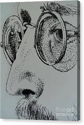 Reflections Of Peace John Lennon Canvas Print by Carla Carson