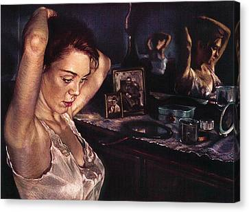 Reflections Of Sasha Canvas Print by Jean Hildebrant