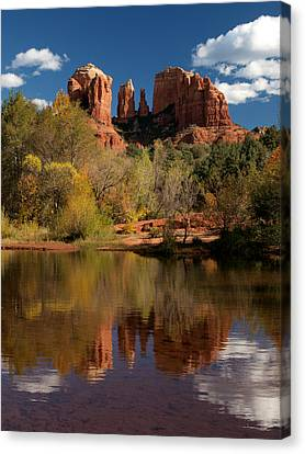 Reflections Of Sedona Canvas Print by Joshua House