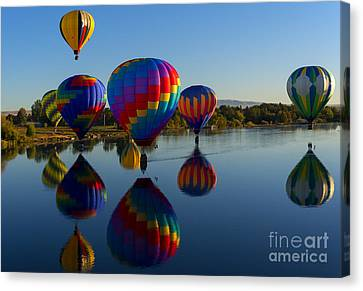 Reflections Of Seven Canvas Print by Mike Dawson