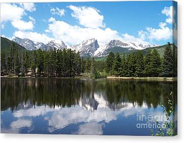 Reflections Of Sprague Lake Canvas Print