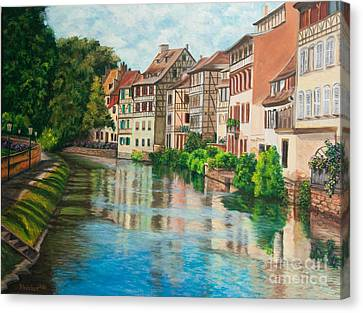 Reflections Of Strasbourg Canvas Print by Charlotte Blanchard