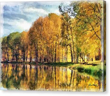 Reflections Of Swan Lake Canvas Print by Russ Harris
