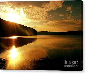 Reflections Of The Day Canvas Print by Scott D Van Osdol