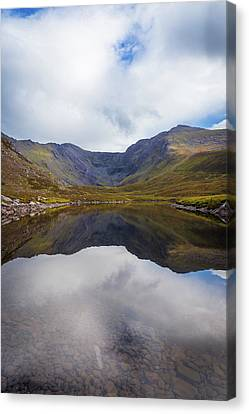 Canvas Print featuring the photograph Reflections Of The Macgillycuddy's Reeks In Lough Eagher by Semmick Photo