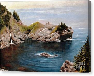 Canvas Print featuring the painting Reflections Of The Past by Hazel Holland