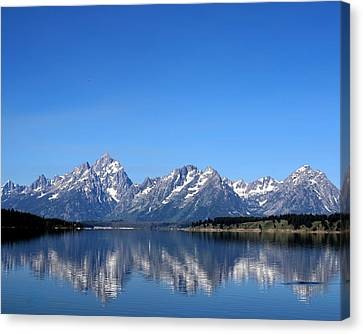 Reflections Of The Teton Range Canvas Print