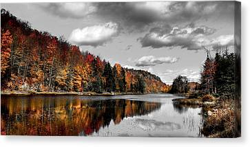Reflections On Bald Mountain Pond II Canvas Print