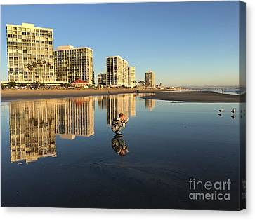 Reflections On Coronado Canvas Print by Becca Lynn Weeks