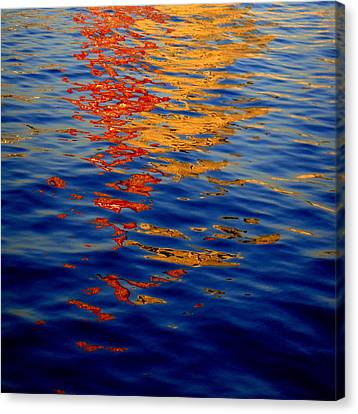 Reflections On Kobe Canvas Print by Roberto Alamino