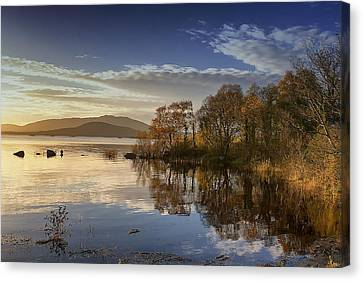 Reflections On Lough Cullin Canvas Print