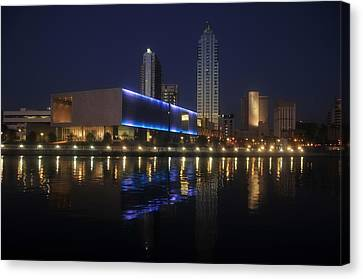 Reflections On Tampa Canvas Print by David Lee Thompson