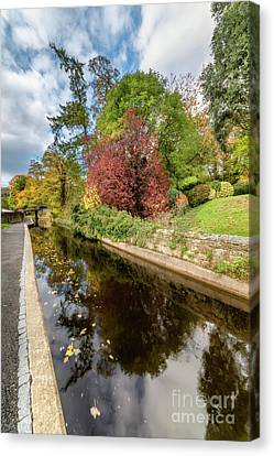 Reflections On The Canal  Canvas Print