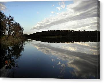 Canvas Print featuring the photograph Reflections On The Lake by Chris Berry