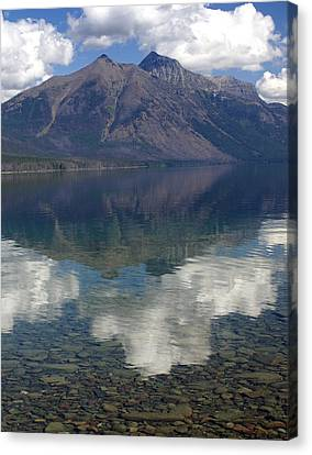Reflections On The Lake Canvas Print by Marty Koch