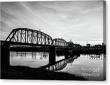 Reflections On The Red River Shreveport Canvas Print