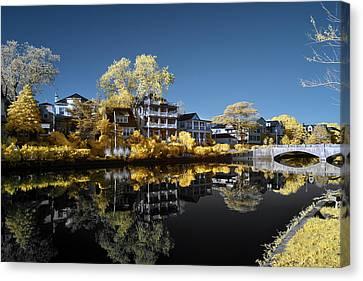 Reflections On Wesley Lake Canvas Print