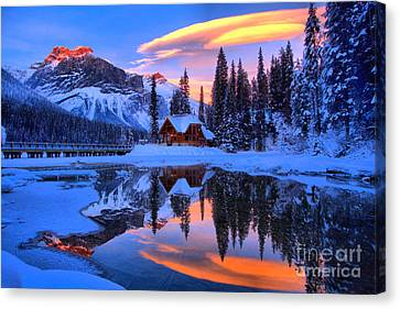 Reflections Over Emerald Lake Canvas Print