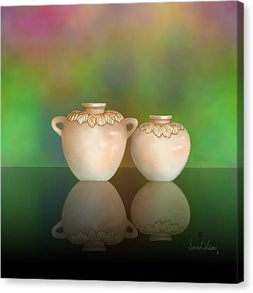 Canvas Print featuring the painting Reflections by Sena Wilson