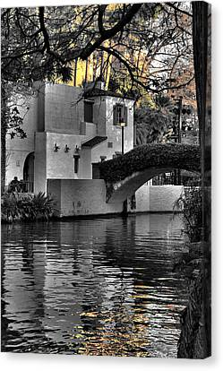 Reflections Under The Bridge Canvas Print by Greg Sharpe