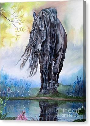 Reflective Beauty Canvas Print by Heidi Parmelee-Pratt
