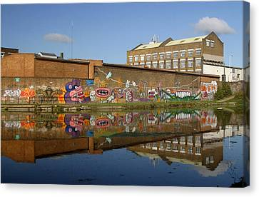 Reflective Canal 4 Canvas Print by Jez C Self