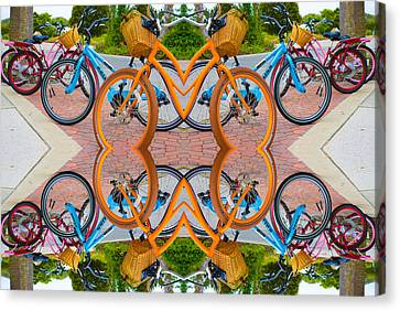 Reflective Rides Canvas Print by Betsy Knapp