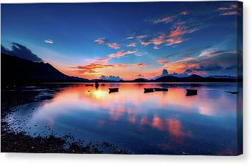 China Cove Canvas Print - Reflective Serenity by Carloyuen