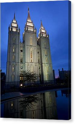Reflective Temple Canvas Print