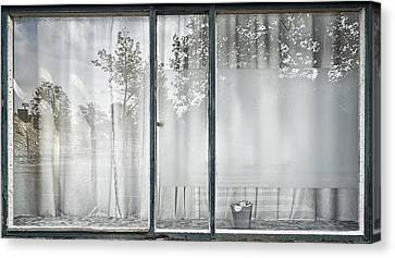 Reflective Window Canvas Print by Susanne Stoop