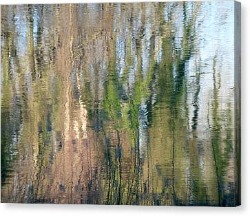 Canvas Print featuring the photograph Reflet Rhodanien Pastel 1 by Marc Philippe Joly