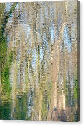 Canvas Print featuring the photograph Reflet Rhodanien Pastel 3 by Marc Philippe Joly
