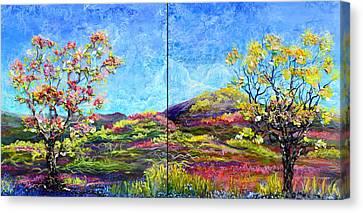 Refresh And Renew As A Diptych Orientation 1 Canvas Print by Regina Valluzzi