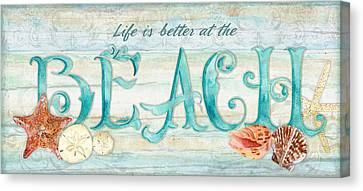 Scallop Shell Canvas Print - Refreshing Shores - Life Is Better At The Beach by Audrey Jeanne Roberts
