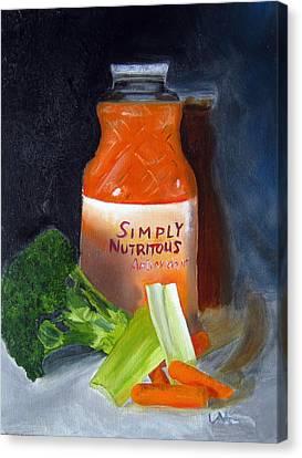 Refrigerator Items Canvas Print