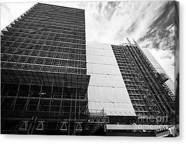 Refurbishment Of Lloyd House West Midlands Police Headquarters Office Development In New Financial A Canvas Print by Joe Fox