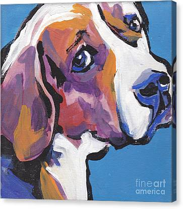 Regal Beagle Canvas Print by Lea S