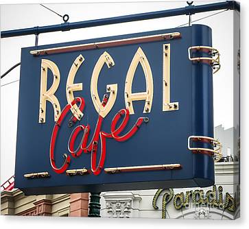 Regal Cafe Canvas Print by Perry Webster