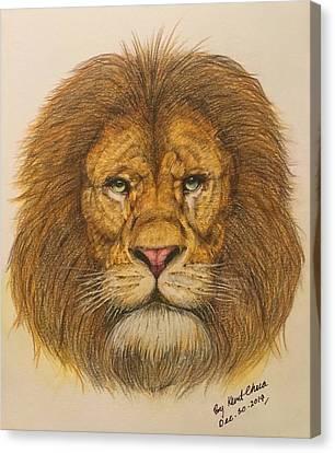 Regal Lion Hand-drawn Canvas Print by Kent Chua