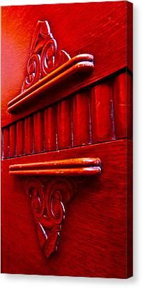 Buffet Canvas Print - Regally Red by Gwyn Newcombe