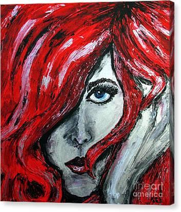 Regard The Look Canvas Print by Cris Motta