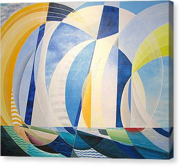 Canvas Print featuring the painting Regatta by Douglas Pike