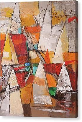 Regatta Pastoso Canvas Print