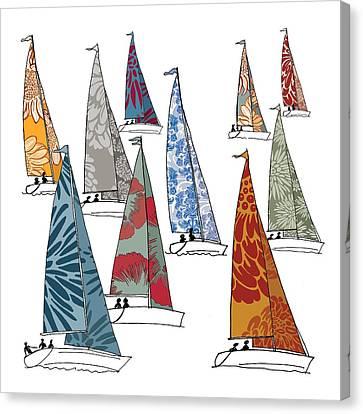 Regatta Canvas Print by Sarah Hough