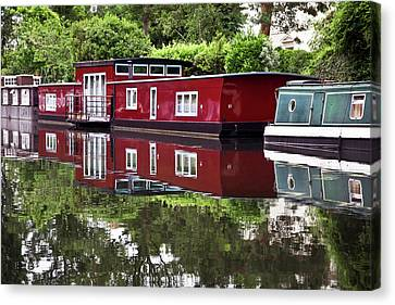 Regent Houseboats Canvas Print by Keith Armstrong