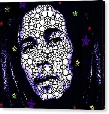 Reggae Royalty - Bob Marley Tribute Canvas Print by Sharon Cummings