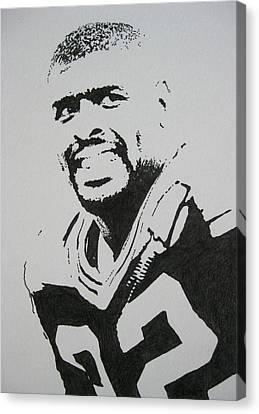 Football Canvas Print - Reggie by Lynet McDonald