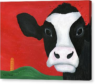 Regina The Happy Cow Canvas Print by Kristi L Randall