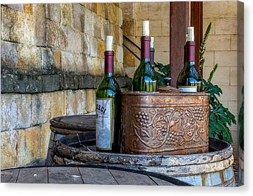Tasting Canvas Print - Regusci Winery by Bill Gallagher