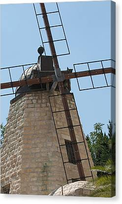 Rehavia Windmill Canvas Print by Susan Heller